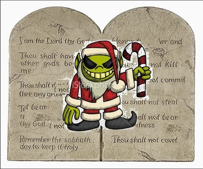 TEN COMMANDMENTS EVIL CHRISTMAS PAGAN GODS