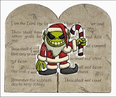 TEN COMMANDMENTS EVIL CHRISTMAS PAGAN GODS